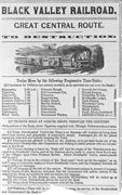 """<b>Black</b> Valley Railroad"" broadside (c. 1860). Made available by the New York..."