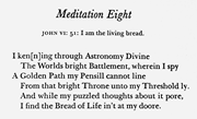 """""""Meditation 8,"""" first series, as printed in  The <b>Poetical</b> Works of Edward T..."""