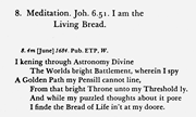 """""""Meditation 8,"""" first series, as <b>printed</b> in  The Poems of Edward Taylor , e..."""