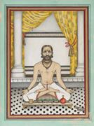 Unknown artist,  Maharaja Ram Singh II of Jaipur  [r. 1835–80]  at Worship ...