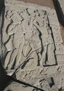 Yakṣas and nāgas worshipping , mid-1st century  bce . Kanaganahalli, India....