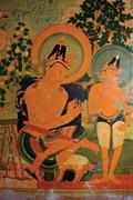 Seated Mañjuśrī (3.9) and standing Maitreya Bodhisattva, near <b>south</b> end of ...
