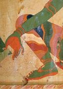 Syāmātārā&#x27;s right arm and leg (detail of  Figure 22 ). Photograph: <b>author</b>. ...