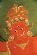 Head of Hayagrīva (detail of  Figure 7 , lower left). Photograph: <b>author</b>.  ...
