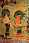 Two female Bodhisattvas (detail of  Figure 18 ). Photograph: <b>author</b>.   Figu...