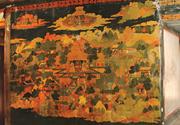Akaniṣṭha Heaven, <b>south</b> end of east wall of Akaniṣṭha Shrine (3.2), first h...