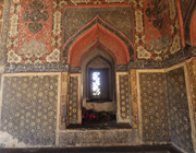Shrine of Ahmad Shah, <b>inscriptions</b> above dado. Photograph: Finbarr Barry Fl...