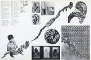 Spread featuring works by Miki Tomio, catalog for the Japanese pavilion, Th...