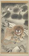 Tani Bunchō (Japanese, 1763–1840),  Tiger Family and Magpies , 1807 (Bunka ...