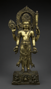 Vishnu , Nepal (Kathmandu Valley), Thakuri period, dated August 12, 1105. C...
