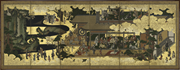 Amusements in a Mansion , Japan, Edo <b>period</b> (1615–1868), mid-seventeenth ce...
