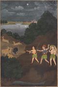 Faizallah (<b>Indian</b>, active 18th c.),  Bhils Hunting by Night , India, Awadh ...
