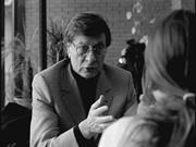 Godard depicts Darwish meeting with an Israeli journalist in the lobby of t...