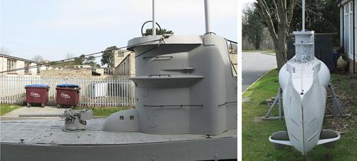Submarine model, built for the film Enigma (2001). Photo: Gair Dunlop