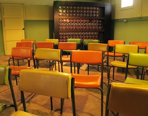 Hut 11, a.k.a. the Bombe room, a.k.a. the hell hole. Photo: Gair Dunlop