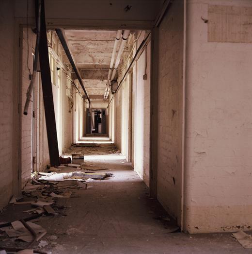 Upper corridor, Block G. Photo: Gair Dunlop