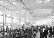 The check-in and baggage-drop area at Stansted Airport, before refurbishmen...
