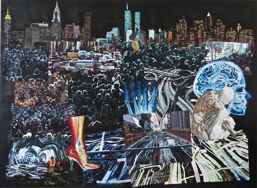 Eternal Return 3, 2013. Acrylic on canvas, 50 × 67 in. Courtesy of the artist