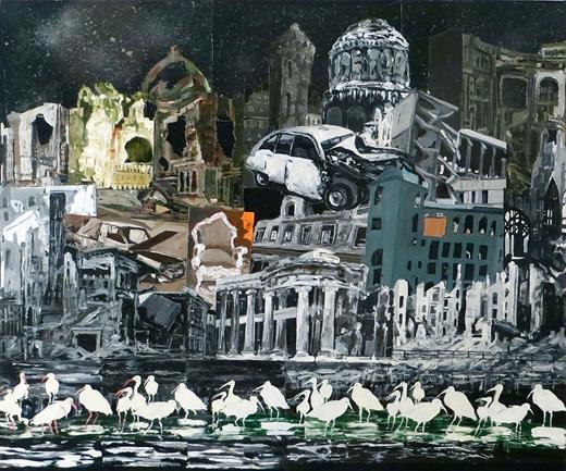 Eternal Return 1, 2013. Acrylic on canvas, 50 × 60 in. Courtesy of the artist