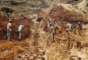 Coltan mine, Democratic Republic of Congo, July 2015   <b>Figure</b> 7. Coltan min...