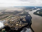 Athabasca oil sands mining <b>infrastructure</b>, 2011. Photograph: Jennifer Grant...