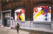 """Carrie Moyer, """"Façade Project,"""" 2004. Wheatpasted silk-<b>screened</b> posters, un..."""