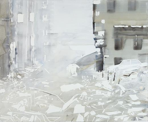 Pamela Wilson-Ryckman, Corner (left), 2007. Watercolor on paper, 22.5 × 27.5 in. Private collection, San Francisco. Courtesy Gallery Paule Anglim and the artist
