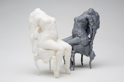 Claudia Hart, Mortification01,2007–8.Rapid-prototype printed sculpture, ABS (acrylonitrile-butadiene-styrene) plastic, 7.5×2.75×2.75 in. Courtesy the artist and bitforms gallery, New York