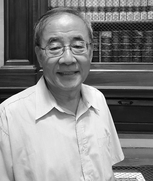 Professor Kim Yung Sik at the Laurentian Medical Library (Biblioteca Medicea Laurenziana) in Florence,Italy, in 2015