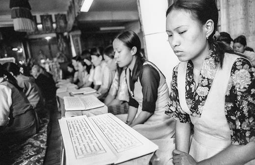 Dharamsala Men-Tsee-Khang college students. © Seb Geo 2008