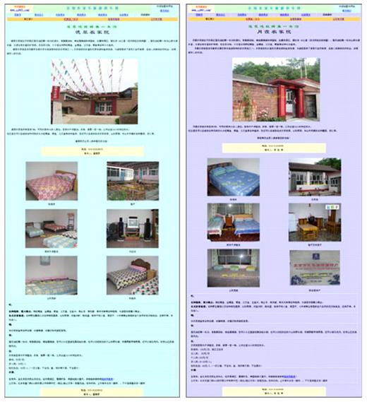 Examples of Lotus Pond NIA web-pages