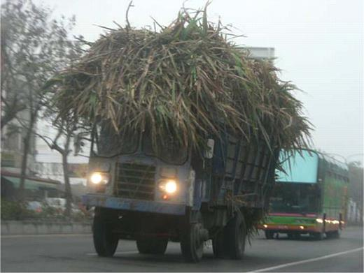 The reassembled car for shipping sugarcane. Photo by the author at Douliu, Yunlin County
