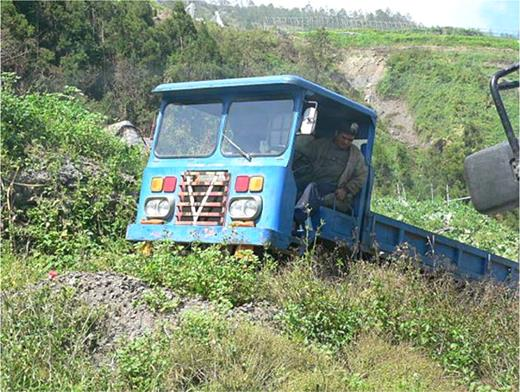 The reassembled car used in a mountainous area. Photo by the author at Lishen, Taichung County