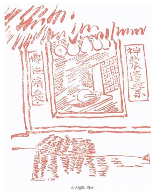 A Rural Pharmacy in Late Nineteenth Cenentury Korea (Source: Honma Kyuske, tran. Choi Hyeju, Chosŏn Chapki 조선잡기, Seoul: Kimyoungsa, 2008, p.233)