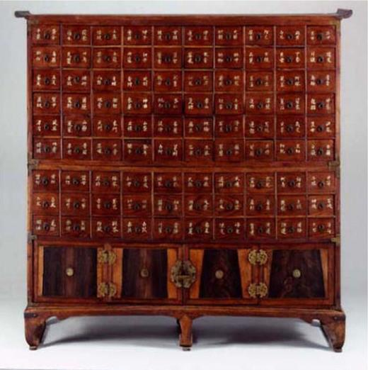 Traditional herbal medicine cabinet, Joseon dynasty, Korea (courtesy of the National Museum of Korea)