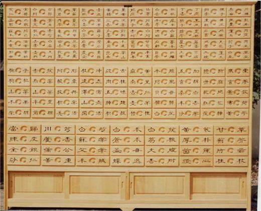 Herbal medicine cabinet (courtesy of Hanseong Hanyakjang, Seoul, Korea)