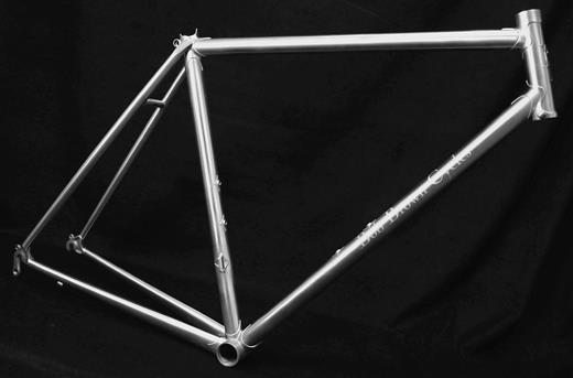 An illustration of a lugged stainless frame. Photo courtesy of Bob Brown Cycles