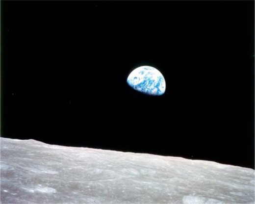 """Earthrise"" (NASA, photo in the public domain)."
