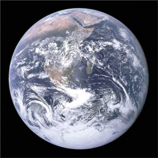 """The Blue Marble"" (NASA, photo in the public domain)."