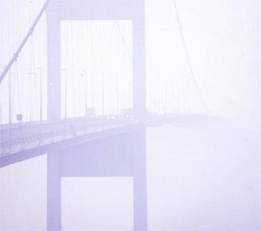 Severn Bridge in fog, c. 1979.