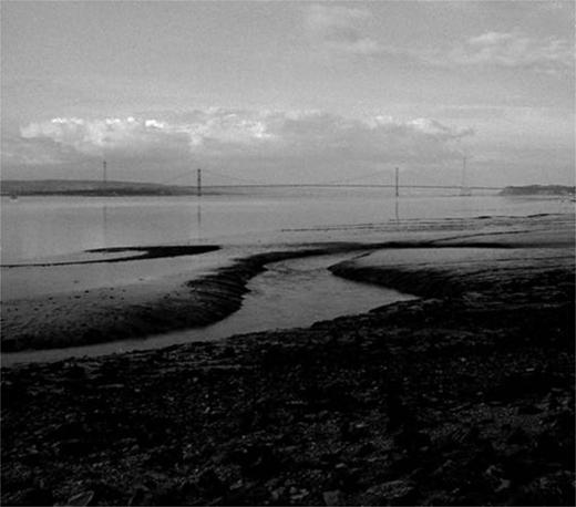 The Severn Bridge, c. 1982, seen from Severn Beach.
