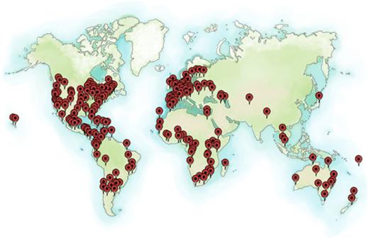 Distribution of Global Plants Partners. Courtesy of Global Plants/JSTOR.