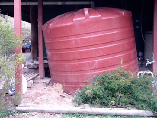 Wombat burrow under the water tank at Micalong Creek. Image courtesy of Affrica Taylor