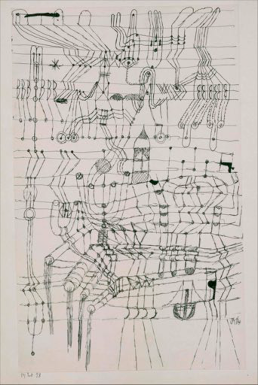 Paul Klee (1920) Drawing Knotted in the Manner of a Net. © The Metropolitan Museum of Art, New York; The Berggruen Klee Collection, 1984.