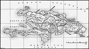 Map of Hispaniola, showing the Taíno <b>Indian</b> provinces and the locations of ...