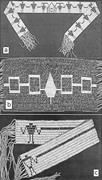 "Reproductions of (a) Canandaigua Treaty belt, 1794, and (b) ""Hiawatha"" belt..."