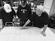 From left, <b>Arikara</b> project participants Jerry White, Rodney Howling Wolf, a...