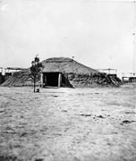 <b>Arikara</b> Medicine Lodge at Like-A-Fishhook Village, 1872. Traditions like th...