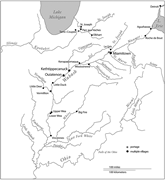 <b>Indian</b> villages along the Wabash River valley. Map drawn by Ellen White   F...