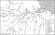 Map showing the eastern part of the <b>Amazon</b>   Figure 1. Map showing the east...
